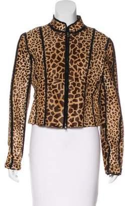 Prada Ponyhair Zip-Front Jacket
