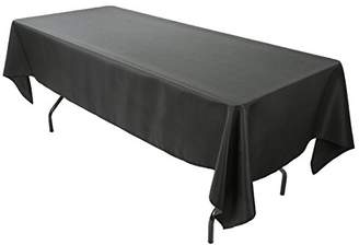 E-TEX 60x102-Inch Polyester Rectangular Tablecloth Black