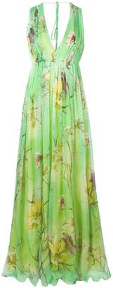 Blumarine floral print evening gown