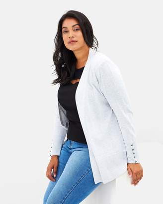 Evans Edge-to-Edge Button Cuff Cardigan