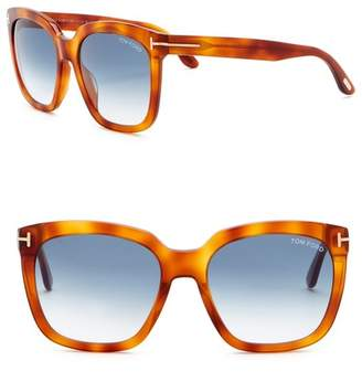 Tom Ford Amarra 55mm Square Sunglasses