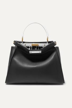 Fendi Peekaboo Leather Tote - Black