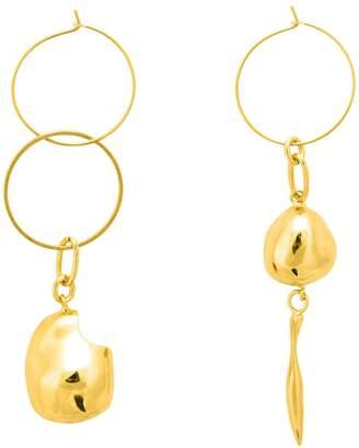 Mounser Gravel Mis-Matched Hoop Earrings