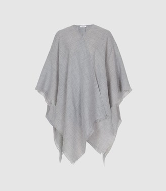 f674299c5 Reiss Grace - Lightweight Summer Poncho in Soft Grey