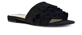 Women's Nine West Ivarene Ruffle Slide Sandal $79.95 thestylecure.com
