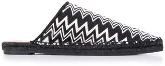 Castaner X Missoni Items zig-zag patterned mules