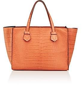 Moreau Paris Women's Brégançon Crocodile Zip Tote Bag - Orange