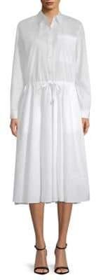 Donna Karan Cotton Button-Down Shirtdress