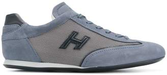 Hogan mesh panelled low-top sneakers