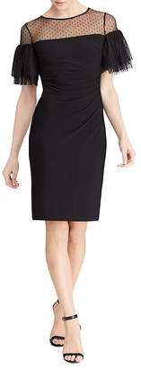 Lauren Ralph Lauren Illusion Swiss Dot Dress