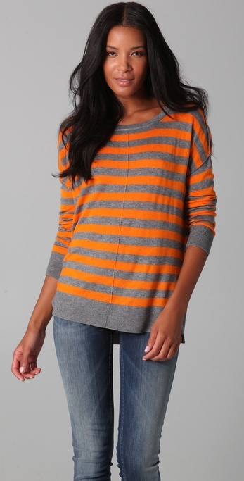 Feel The Piece Striped Long Sleeve Sweater