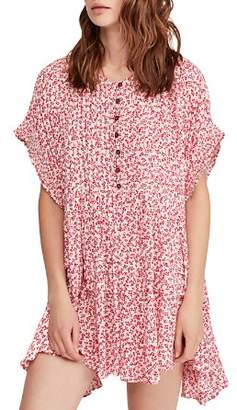 Free People One Fine Day Floral-Print Mini Dress