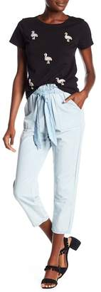 Romeo & Juliet Couture High Waist Chambray Pants