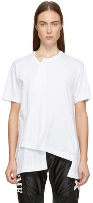 Comme des Garcons White Asymmetrical T-Shirt