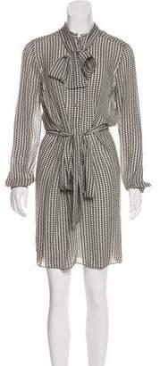 Gucci Silk Houndstooth Dress w/ Tags