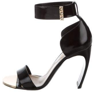 Nicholas Kirkwood Leather Ankle Strap Sandals
