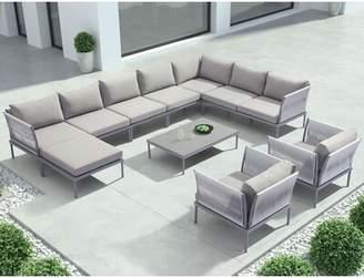 Brayden Studio Alfaro Deep Seating Sofa with Cushions Brayden Studio