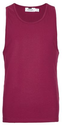 Burgundy Ultra Muscle Fit Tank Top $10 thestylecure.com