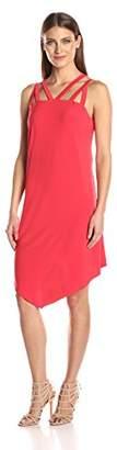 MSK Women's Cage Bodie Asymmetircal Midi Knit Dress