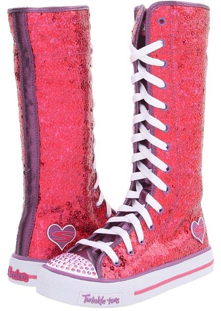 Skechers Lolly Dolly 83753L (Little Kid/Big Kid) (Hot Pink) - Footwear