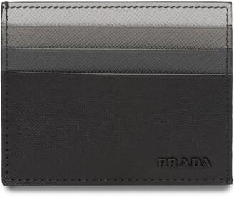 Prada Saffiano leather credit card holder