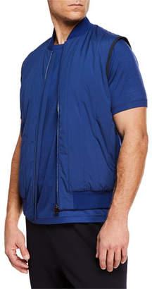 Z Zegna-Techmerino Men's Quilted Zip-Front Vest