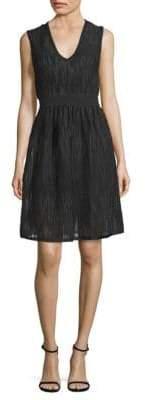 M Missoni Rib-Stitch Mesh Fit-&-Flare Dress