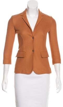 The Row Three-Quarter Sleeve Textured Blazer