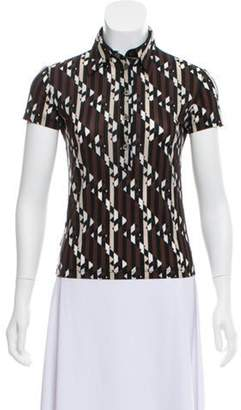 Fendi Abstract Zucca Polo Brown Abstract Zucca Polo