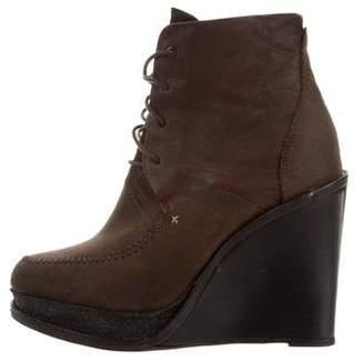 Rag & Bone Round-Toe Wedge Boots