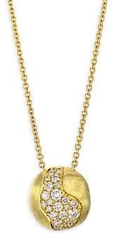 Marco Bicego Women's Africa Diamond & 18K Yellow Gold Pendant Necklace