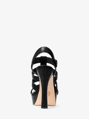 MICHAEL Michael Kors Inez Leather Platform Sandal