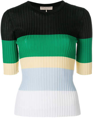 Emilio Pucci striped ribbed jumper