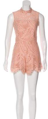 Alexis Sleeveless Lace Romper