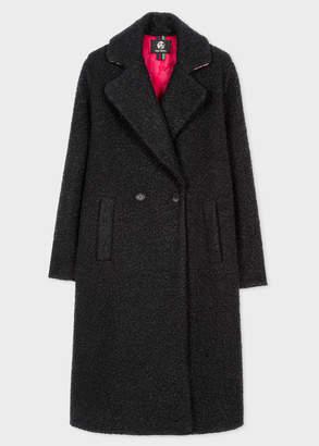 Paul Smith Women's Black Boucle Cocoon Coat