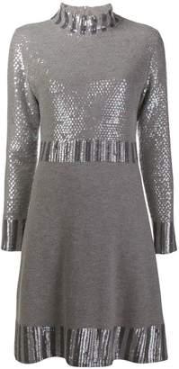 Blumarine sequin embellished knitted dress
