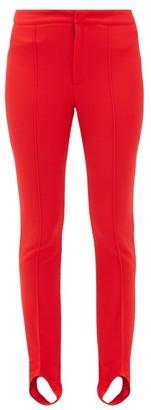 Moncler Slim Leg Stirrup Ski Trousers - Womens - Red