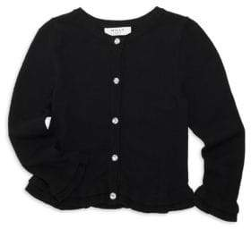 Milly Minis Little Girl's Ruffle Trim Cardigan