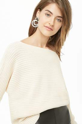 Forever 21 Ribbed Boat Neck Sweater