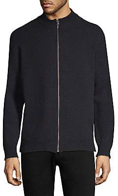 Sunspel Men's Wool Zip-Front Jacket