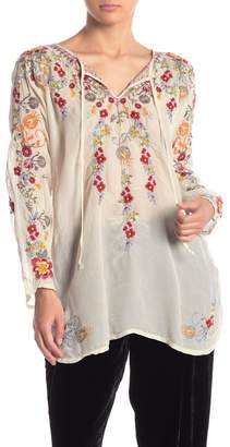 Johnny Was Autumn Bloom Floral Embroidered Tunic