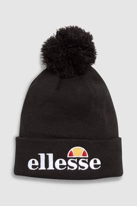 965673fdd88c4 Ellesse Mens Heritage Velly Pom Pom Beanie - Black