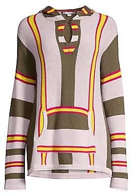360 Cashmere Women's Rocky Barnes X Tesla Striped Cashmere Hoodie