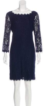 Diane von Furstenberg Long Sleeve Mini Lace Dress