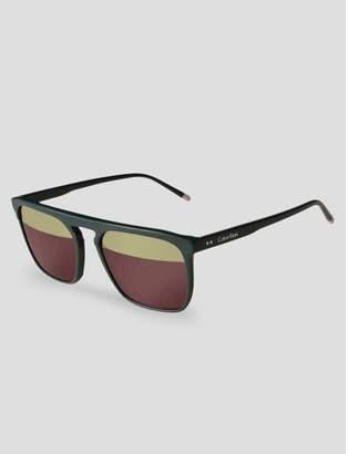 Calvin Klein aviator two-tone sunglasses