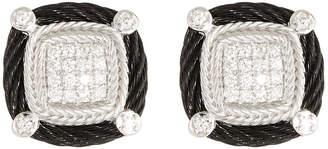 Alor Noir Diamond Stud Earrings, Black