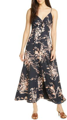 Joie Almona Floral Print Button Front Maxi Dress