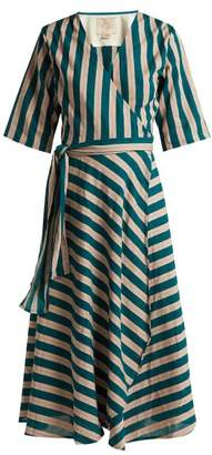 Ace&Jig Annalise Striped Cotton Wrap Dress - Womens - Green Multi