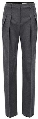 HUGO BOSS Extra-long wide-leg trousers with pleated front