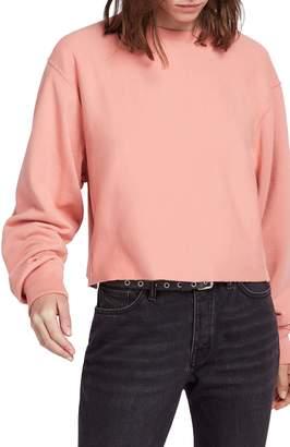 AllSaints Navarre Raw Hem Crop Sweatshirt